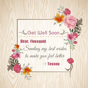 """I will write your name on the """"get well soon wishes greeting card"""""""
