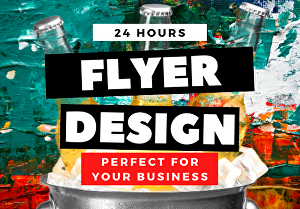 I will design a professional flyer for your business in  24 hours