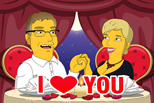 I will draw portrait gift for lovers in yellow cartoon style simpson