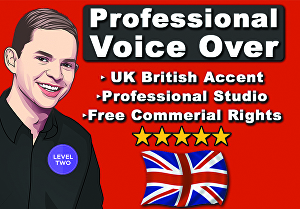 I will record your Professional Male British Voice over