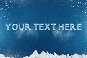 I will wite your name or text in ice-cold effect