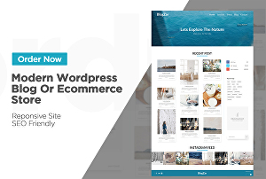 I will create a wordpress website blog or ecommerce store