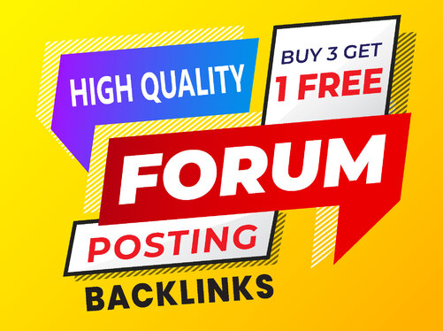 provide 50 top brand HQ forum posting backlinks