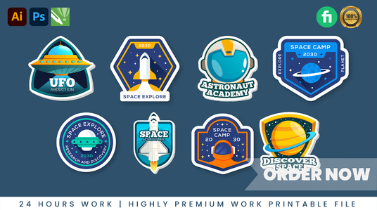 design unique stickers, patch, badge, logo anything