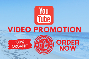 I will do organic and real youtube video promotion