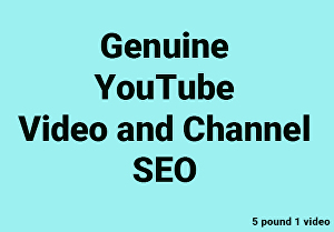 I will do best genuine YouTube SEO for video ranking
