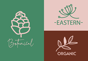 I will design a botanical hand drawn, trendy, boho modern logo