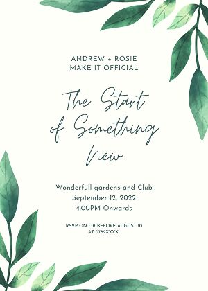 I will create invitations for any event you have coming up, such as Wedding or Birthday