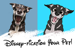 I will draw your pet into Disney cartoon style