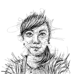 I will create cool scribble portrait art from portrait photo