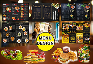 I will design restaurant or food menu