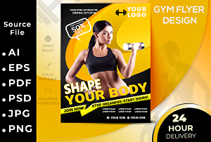 I will provide gym flyer, fitness flyer, sports flyer poster