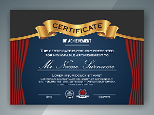 I will Create amazing certificate for any event