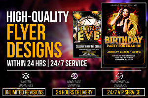 I will design eye catching flyer and brochure for your business