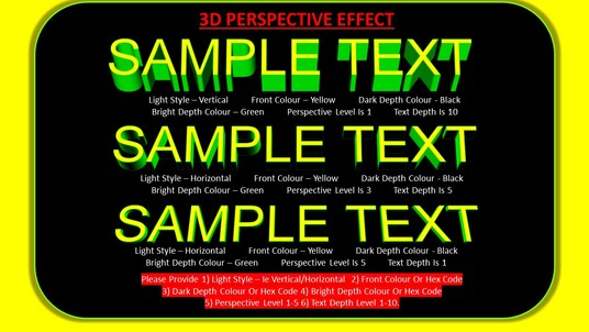 create 3D text logos words phrases for your projects with your preferred fonts