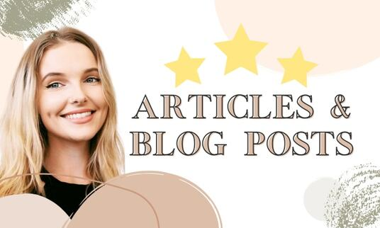 write high quality, SEO optimized blog post or article
