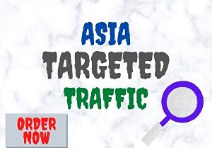 I will provide 1500 ASIA TARGETED Human traffic to your web or blog site