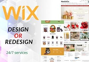 I will design wix or wix online store,redesign a wix website design or wix landing page