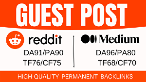 I will Indexable 2 Guest Post On Reddit And Medium
