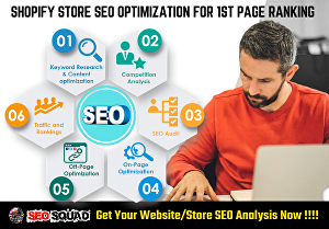 I will Do Shopify SEO Optimization, Product Tags & Schema Markup for 1st Page Ranking - 10 Pr