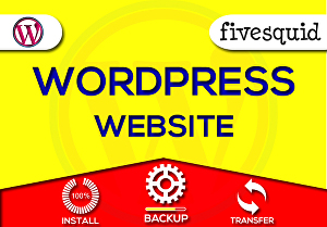I will install or backup or transfer any WordPress website