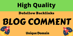 I will manually 50 do-follow blog comments  high DA PA site