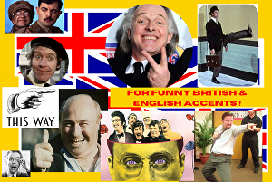 I will record a funny or straight British English voiceover