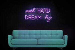 I will Design 10 3D Neon Sign With Acrylic Effect 9 different colours