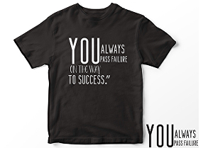 I will design typography t -shirt