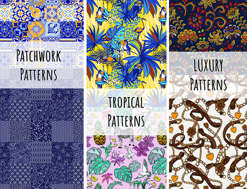 design trendy  Seamless patterns print ready files for your fabrics