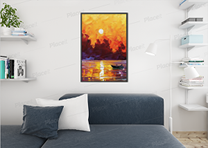 I will create amazing canvas wall art mockups and designs