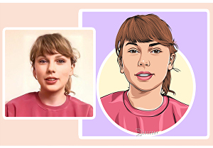 I will create vector portraits with cartoon style