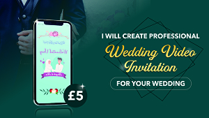 I will Create Wedding video Invitation for your wedding