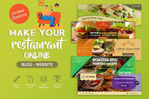 I will develop restaurant website with online order system