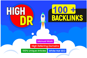 I will build high authority DR 100 plus dofollow backlinks off page seo