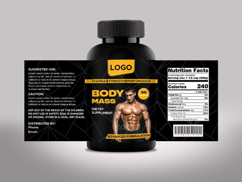 do professional product label and packaging design, cosmetics label design, supplement labels design