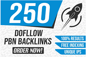 I will create DR 250 permanent dofollow backlinks for off page seo