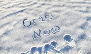 I will create a custom text for you in snowy ground