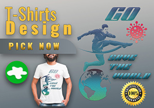 I will make an eye catchy custom graphic t-shirt design