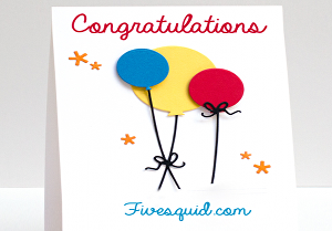 I will put your text on a professional congratulations card