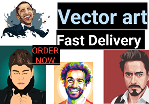 I will Do Awesome and excellent vector art for you
