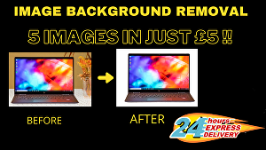 I will change or remove background of  5 images within 24 hours
