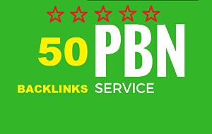 I will create 50 PBN Backlinks DA 20+ and TF 20+ and Blogger Backlink to get fast rankup