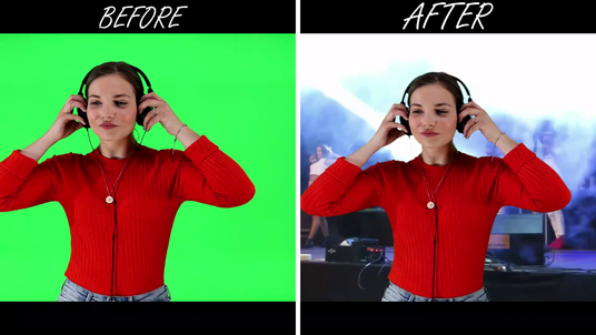 remove green screen background in any video