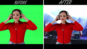 I will remove green screen background in any video