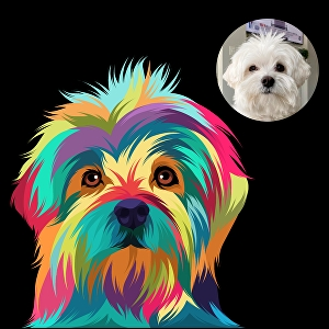 I will make amazing colourful vector pets