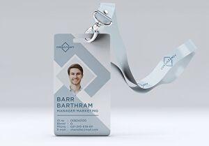 I will design id cards, id badges, and lanyards