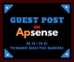 I will provide you Permanent guest post backlinks from Apsense DA 75