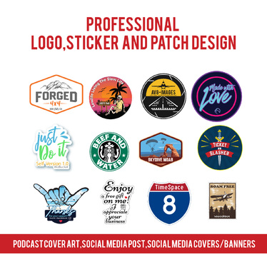 design stickers, patches, badges and logos