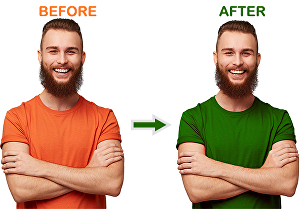 I will change the color of your t-shirt in photoshop